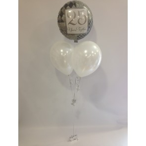 Silver Anniversary 25 Years Together Balloon Bunch