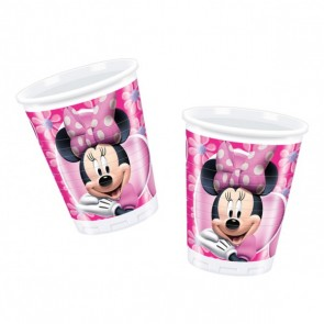 Minnie Mouse Pink Plastic Cups