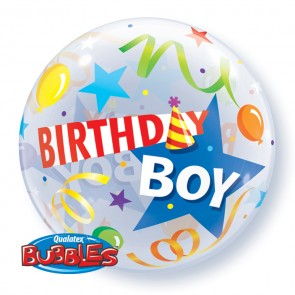 'Birthday Boy' Bubble Balloon