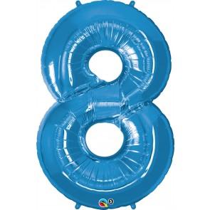 Number 8 Blue Super Shape Foil Balloon