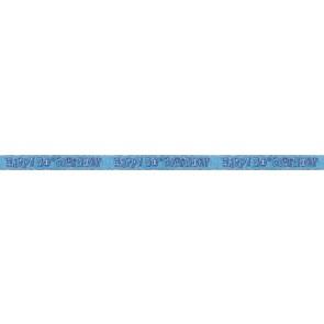 Age 30 Blue Glitz Banner