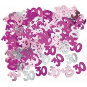 Age 30 Pink Glitz Confetti
