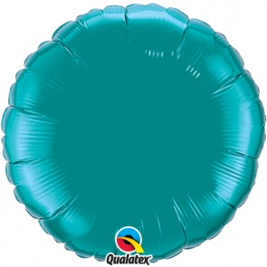 Teal Round Foil Balloon