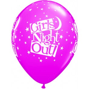 Girls Night Out Stars Latex Balloons