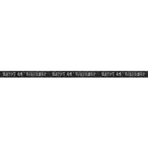 Age 40 Black & Silver Glitz Banner