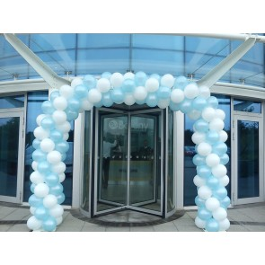 White and Pale Blue Spiral Entrance Arch