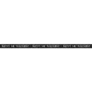 Age 50 Black & Silver Glitz Banner