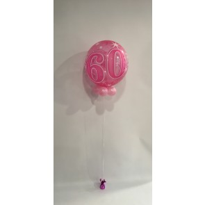 Age 60 Pink Bubble Balloon