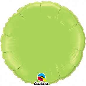 Lime Green Round Foil Balloon