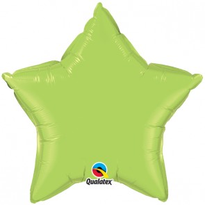 Lime Green Star Foil Balloon