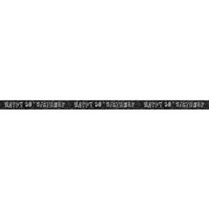 Age 80 Black & Silver Glitz Banner