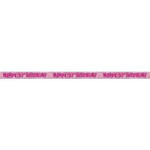 Age 80 Pink Glitz Banner