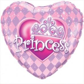 Princess Tiara Heart Foil Balloon