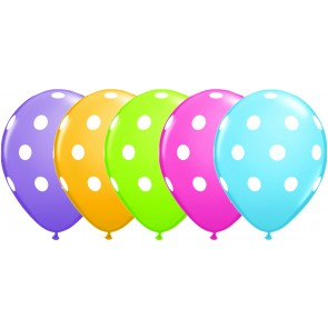 Multi Coloured Polka Dot Latex Balloons