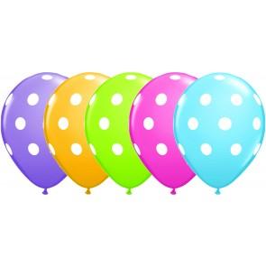 Multi Coloured Polka Dot Latex Balloons