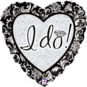 'I Do' Love Heart Foil Balloon