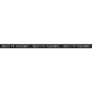 Age 90 Black & Silver Glitz Banner
