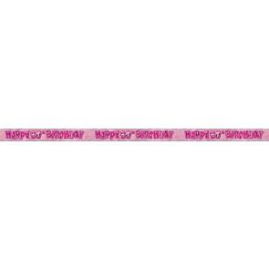 Age 90 Pink Glitz Banner