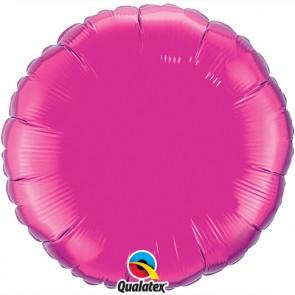 Hot Pink Round Foil Balloon