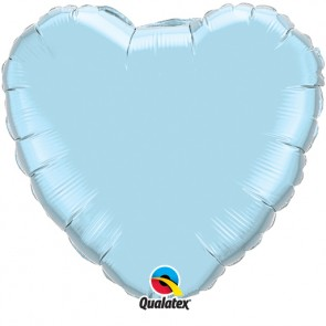 Baby Blue Heart Foil Balloon