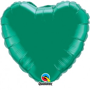 Emerald Green Heart Foil Balloon