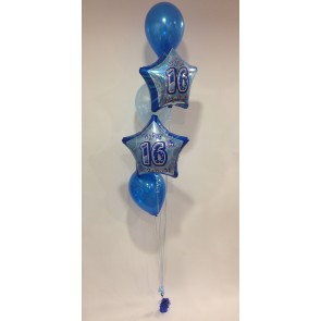 Age 16 2 Foil and 3 Latex Balloon Bunch
