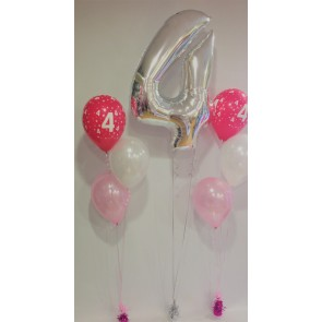 Age 4 Pink & Silver Package