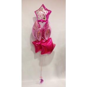 Age 60 Pink 5 Star Bouquet