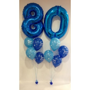 Age 80 Blue Balloon Burst