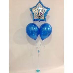 Age 80 Blue Balloon Bunch