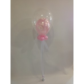 Age 80 Double Bubble in Pale Pink
