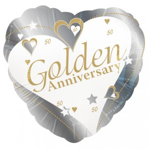 Golden Wedding Anniversary Foil Balloon