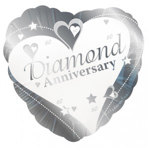 Diamond Wedding Anniversary Foil Balloon