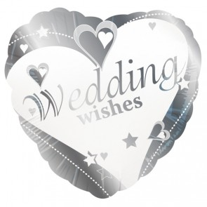 'Wedding Wishes' Love Heart Foil Balloon
