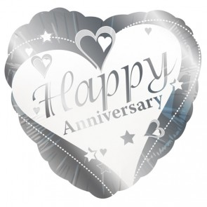 Happy Anniversary Heart Foil Balloon