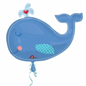 Baby Blue Whale SuperShape Foil Balloon