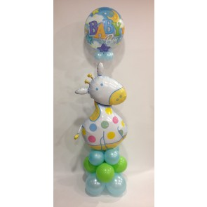 Baby Boy Bubble & Giraffe Column Base