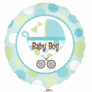 Baby Boy Buggy Foil Balloon