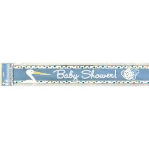 Baby Boy Stork  Foil Banner