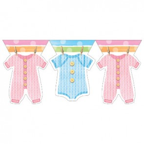 Baby Clothes Flag Banner