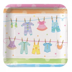 Baby Clothes Paper Plates