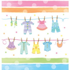 Baby Clothes Plastic Tablecover