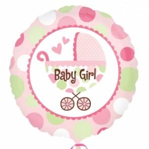 Baby Girl Buggy Foil Balloon