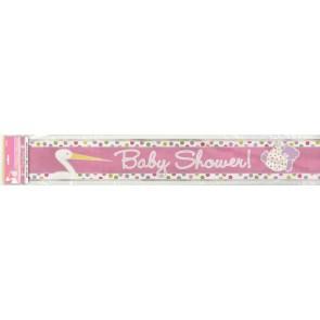 Baby Girl Stork Foil Banner