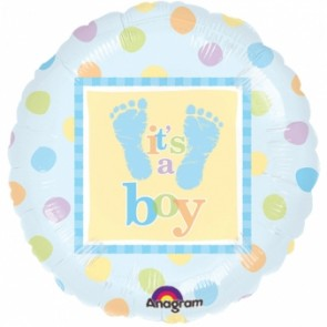 Baby Boy Steps Foil Balloon