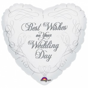 'Best Wishes On Your Wedding' Foil Ballon