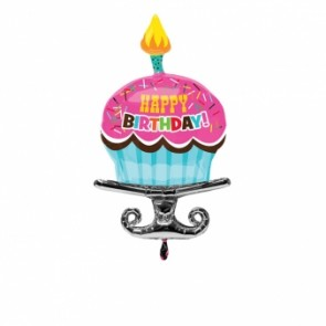 Birthday Sprinkle Cupcake SuperShape Foil Balloon