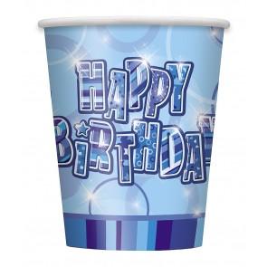 Blue Glitz Paper Cups
