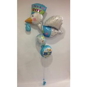 Blue Stork Foil Bouquet