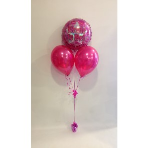 Bride to Be Hot Pink Balloon Bunch